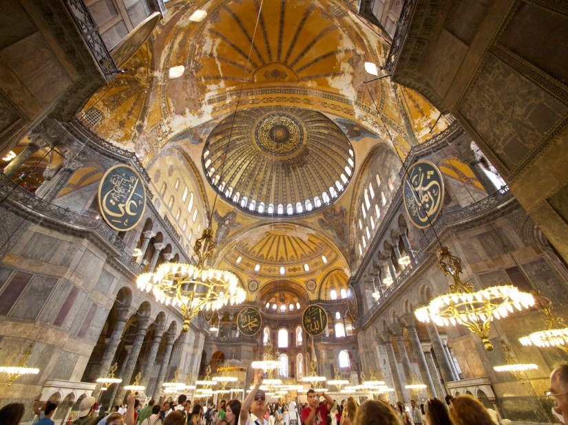 Interiour of Aya Sofia